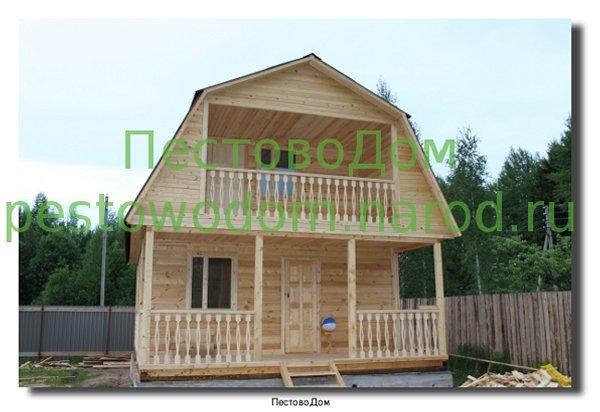 Дачный дом с балконом и террасой, проект наро-фоминск.